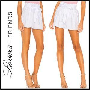 NWT Lovers + Friends Augusta White Paperbag Short